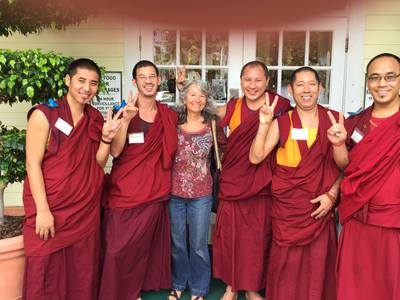 Debra with monks1 4